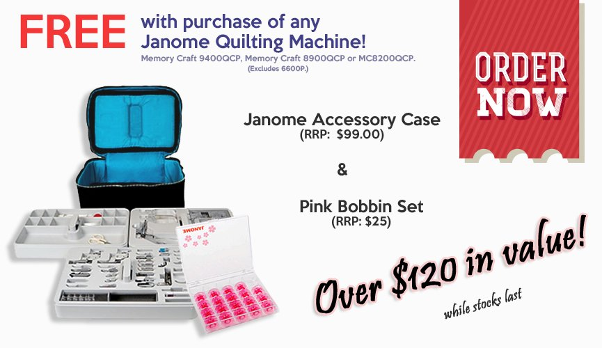 Janome Quilting Machine Offer Discount Deal Coupon Cheap