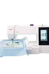 Janome Memory Craft MC500E Embroidery Only Machine Australia Centre Frame Hoops Designs Area