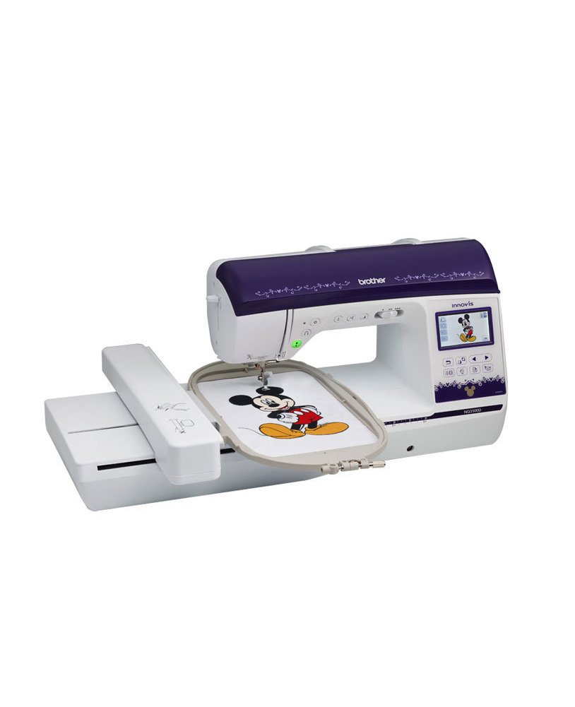 Brother NQ3500D Sewing and Embroidery Machine Hoop Frames Disney Quilting Designs