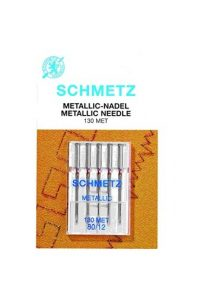 Schmetz Metallic Needles Sewing Embroidery Domestic Machinery Flat Back Backed