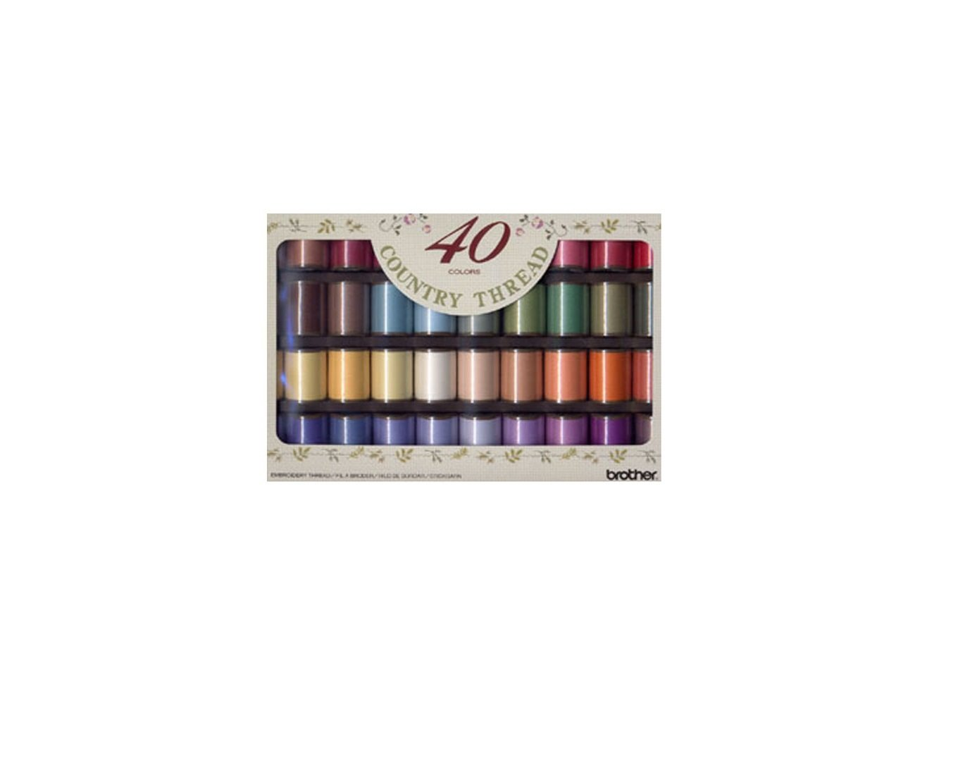 ETM40 Matte Country Thread Brother Embroidery Price Cheap Quality Sewing