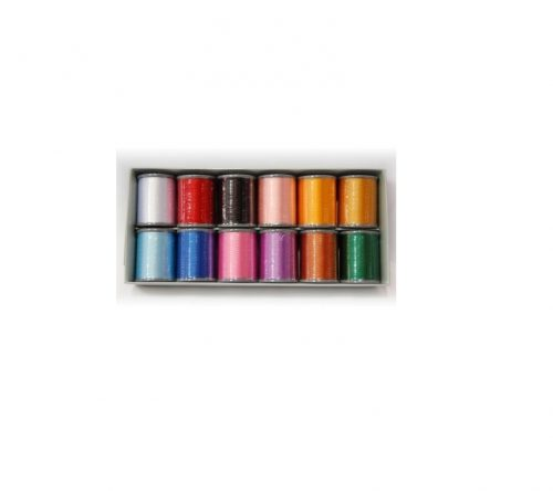 Brother Thread Embroidery Set - 12 Colours Satin Embroidery Gutermann Janome Madeira Royal Cheap Discount Price Perth Western Australia Blackmore and Roy Sewing Machine Sales Services and Repairs