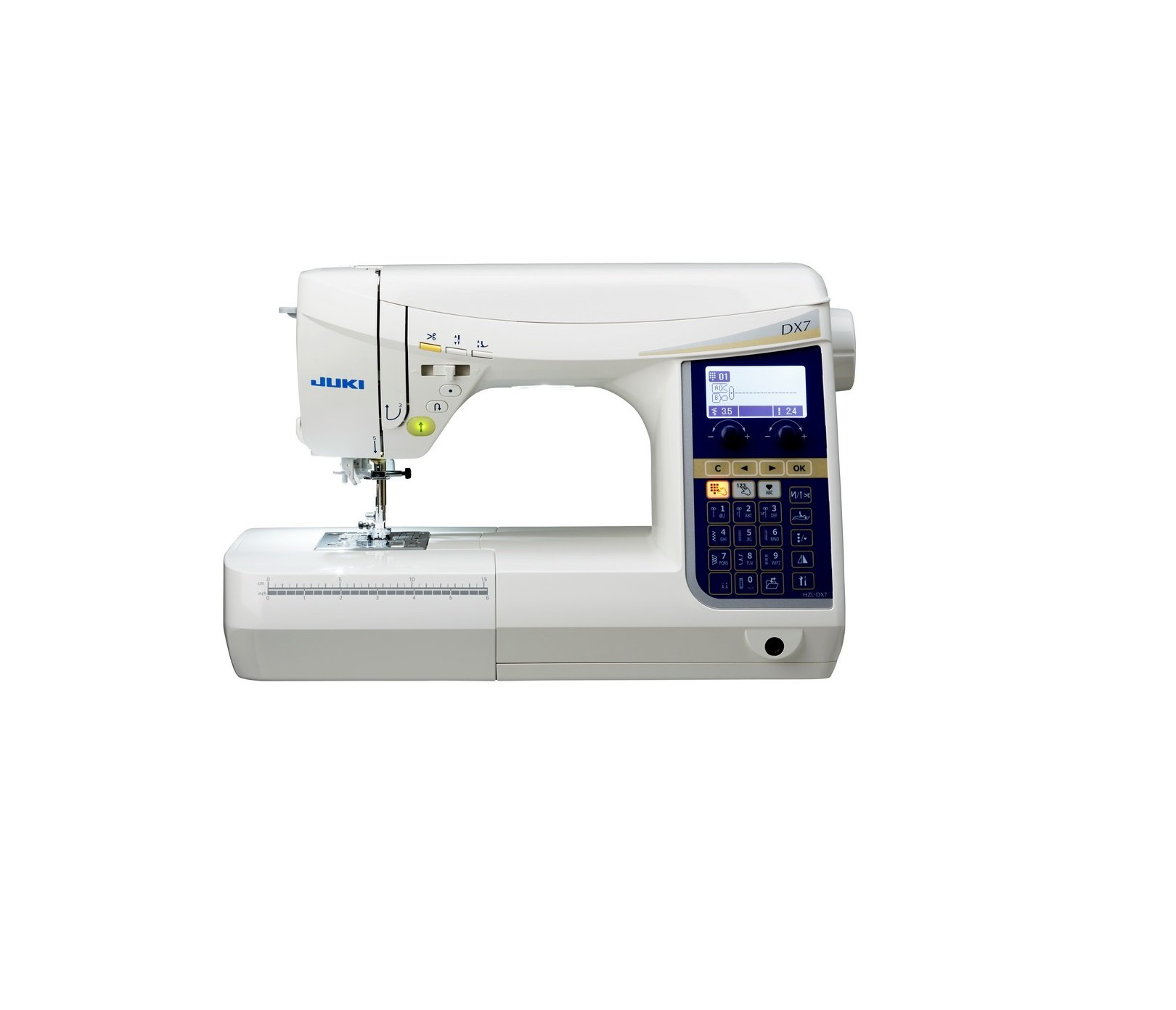 HZL-DX7 Juki Sewing and Quilting Machine. Professional, sleek, and simple to use!