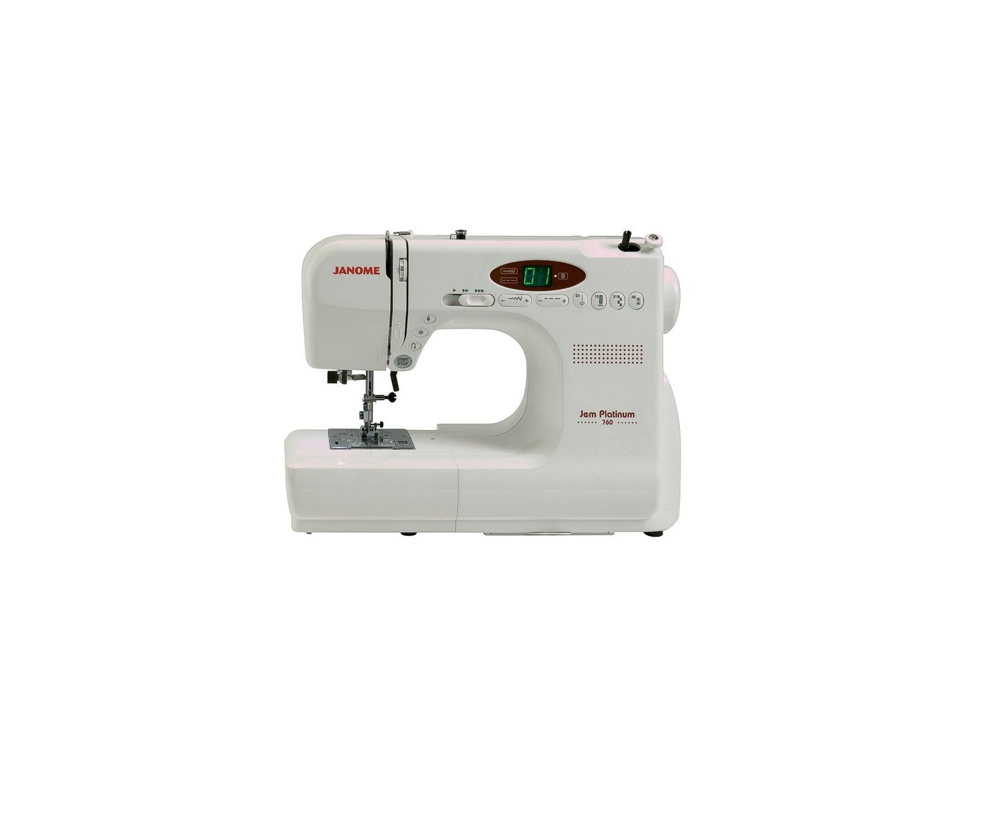 Janome JP760 Sewing Machine Stitches Built-in Buttonhle Decorative Foot Controller Control Pedal Instruction Manual Book Booklet Cheap Discount Price Spotlight Western Australia Perth