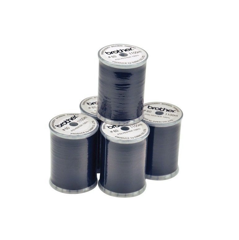 Brother Bobbin Thread Fill BLACK EBT-CEN 90wt Embroidery Sewing Australia Cones Spools 5 Pack Bulk Discount Prewounds Innov-is 800E VE2200 Winding Filament Polyester Spun EBT-CEN EBT-CEBN