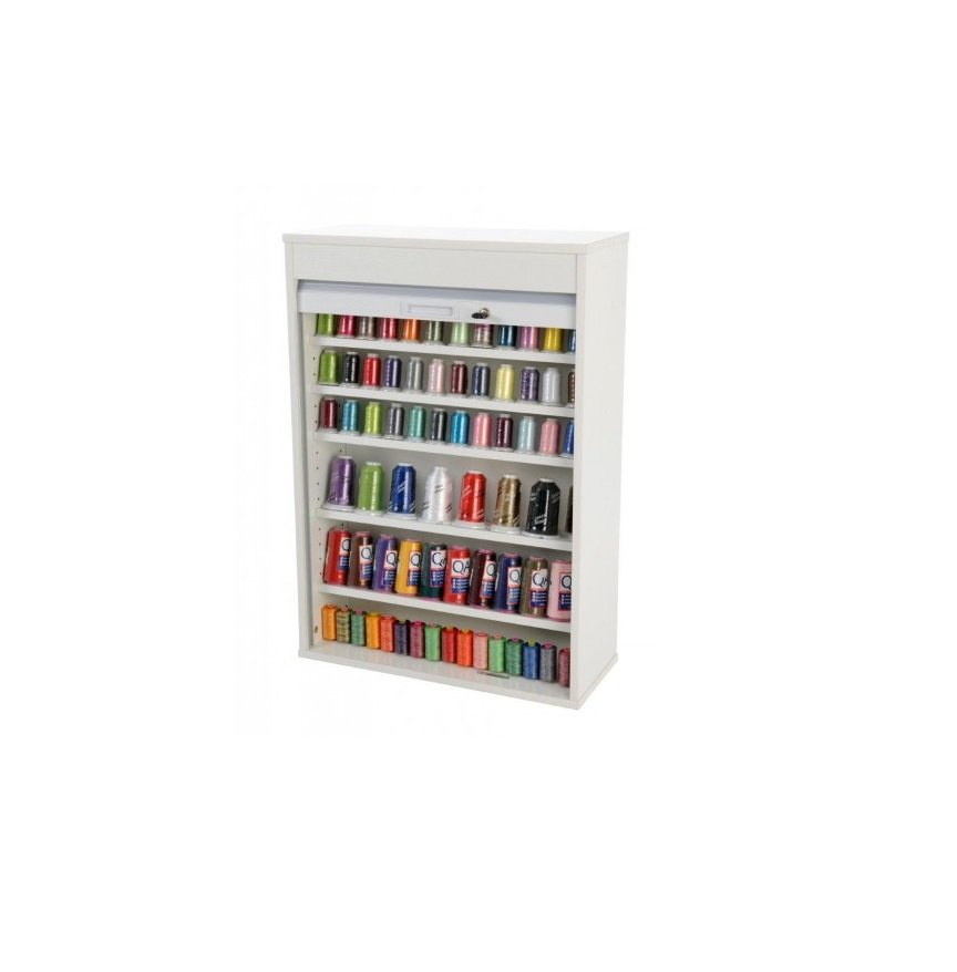 Horn Thread Storage Cabinet Unit White Spools of Thread Perth WA Blackmore and Roy