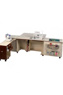 Sovereign MK II Sewing Machine Cabinet large spacious white ash teak beech surface area professional blackmore and roy perth WA