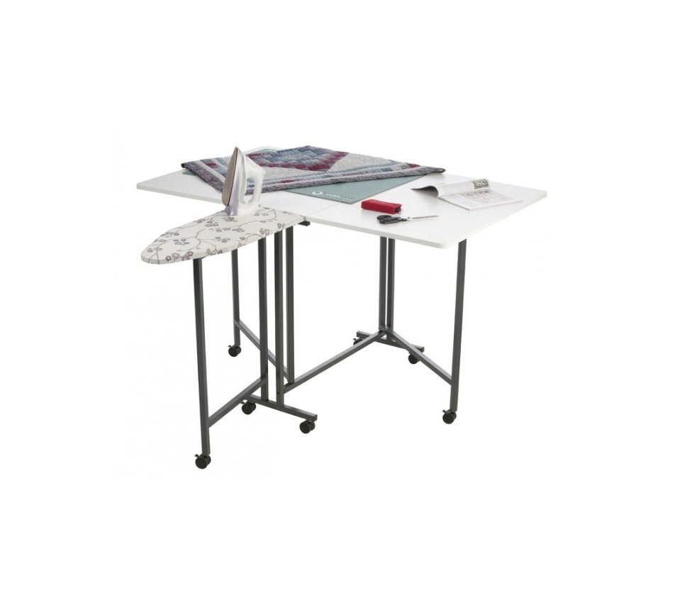 Craft and Hobby cutting table Horn built-in Ironing Board RTA flatpack cheap assemble delivery perth western australia blackmore and roy