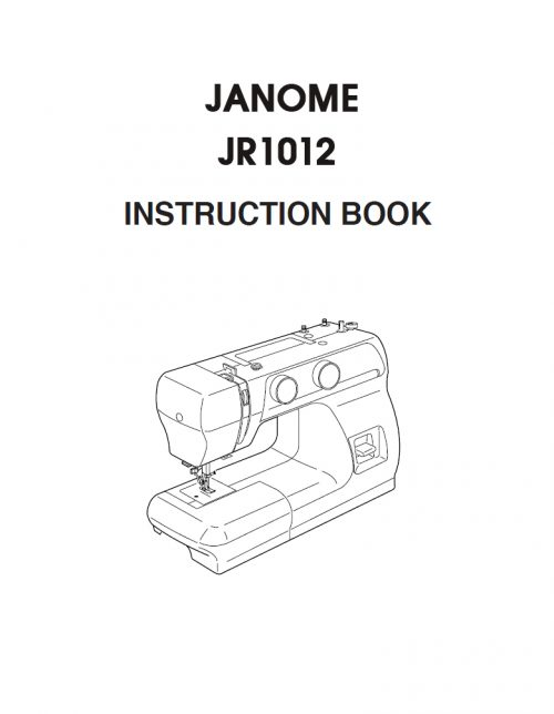 Janome JR1012 Instruction Manual Free Download Book PDF Copy File Booklet Book Catalogue Catalog Copy