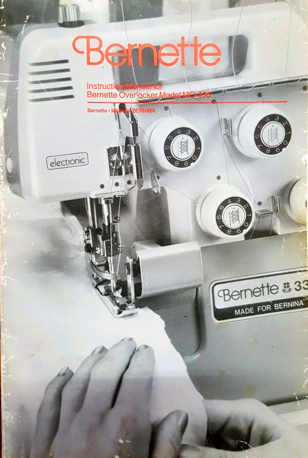 Bernette MO-330 Bernette MO-335 Instruction Manual Instruction Manual Overlocker Serger Instructions Booklet Brochure Free PDF Download Bernina Read Online Price Cheap Now