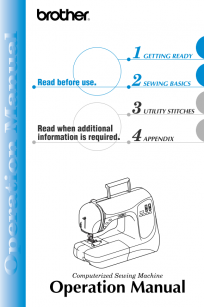 Brother NX200 Instruction Manual Domestic Sewing Machine Booklet Brochure Instructions free PDF digital download online view read
