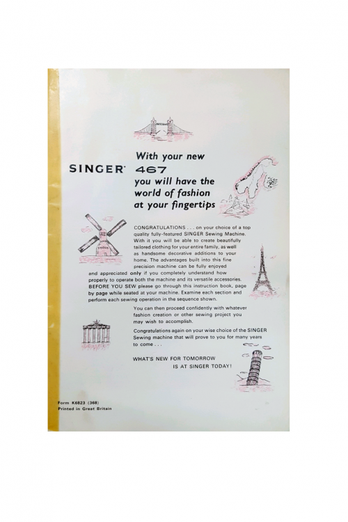 Singer 467 Instruction Manual Download PDF Free Read Online Digital Browser Cheap Buy
