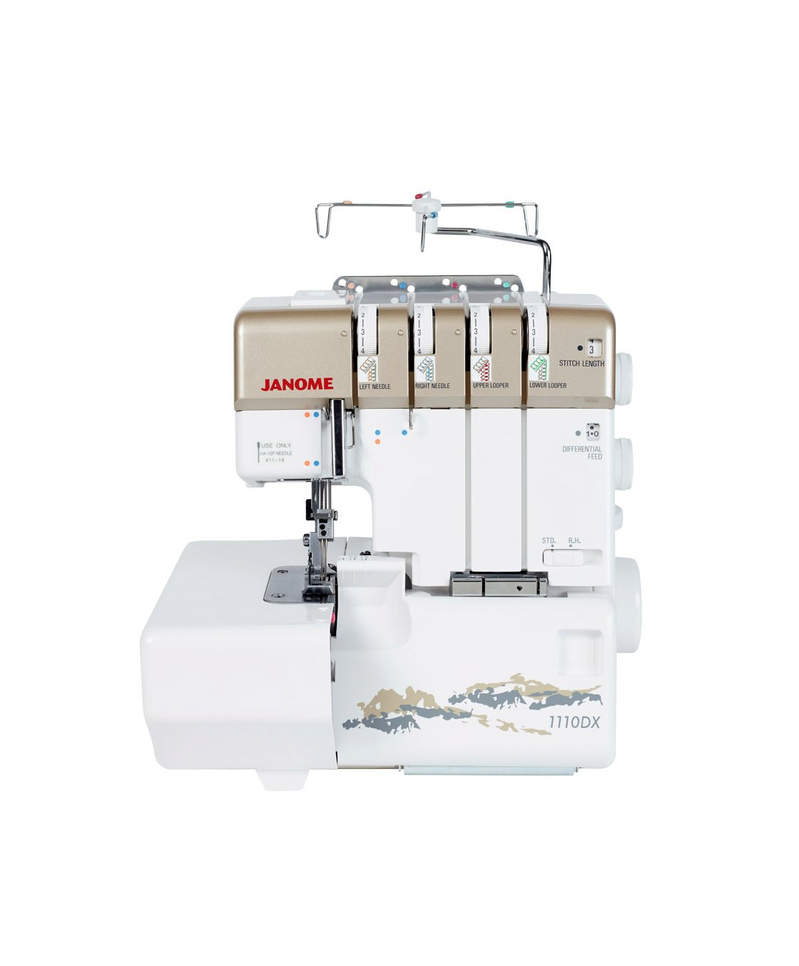 Janome 1110DX Overlocker Discount Sale Thread Blades Differential Feed Spotlight Perth WA Western Australia Domestic Serger