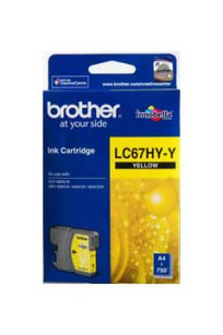 Brother Printer Ink LC67HY-Y