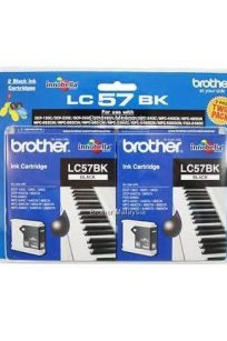 Brother Printer Ink LC57BK Duo Packet Blister Pack Cheap Discount Postage Price