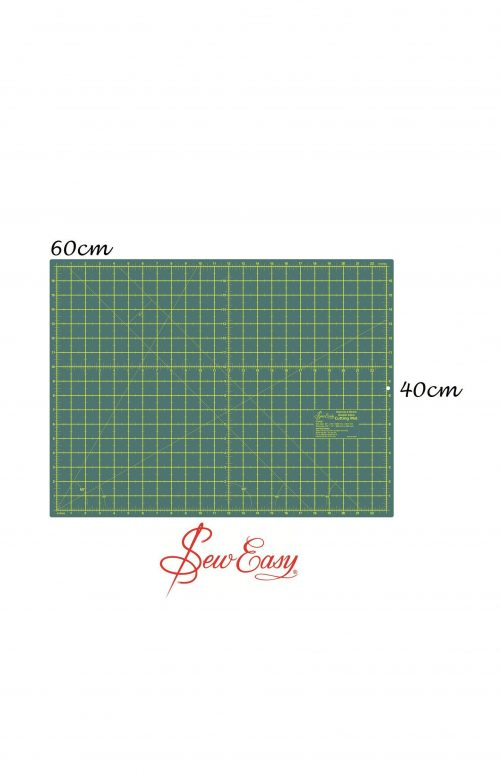 Sew Easy Double Sided Cutting Mat 60 cm x 45 cm 24 inches 16 inches grid Quilting Fabric Cut
