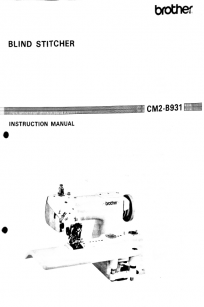 Brother CM2-B931 Instruction Manual PDF Download Booklet Brochure Catalogue