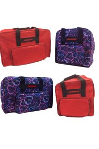 Janome Carry Case Sewing Overlocking Portable Cheap Discount Purple Hearts Red Handle