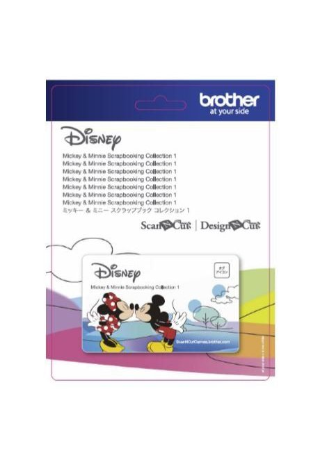Mickey Mouse and Minnie Mouse Scan n Cut Pattern Collection Papercraft Scrapbooking Paper Craft Designs CADSNP01