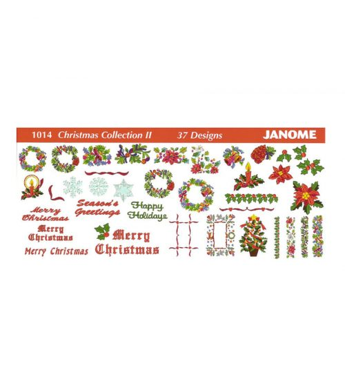 Janome Card 1014 Christmas Collection Jef Card 300E 350E Memory Craft