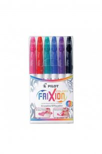 Pilot Frixion Erasable Pens Markers 6 Pack Colours