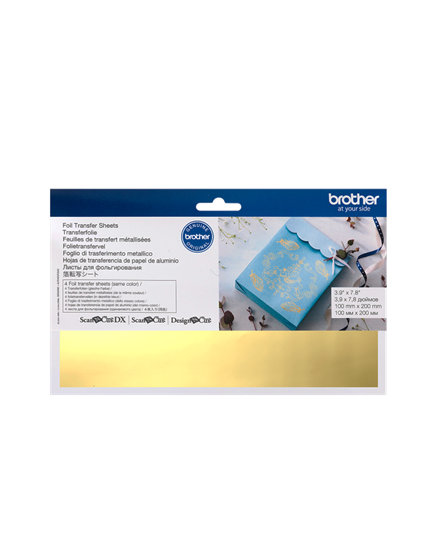 Gold Foil Transfer Sheets Brother Scan N Cut Foiling Starter Kit Accessories Design N Cut SDX1200