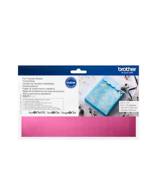 Pink Foil Transfer Sheets Brother Scan N Cut Design N Cut SDX1200 Foil Transfer Starter Kit Accessories