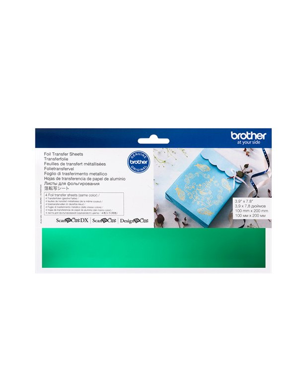 Green Foil Transfer Sheets Brother Scan N Cut Design N Cut SDX1200 Foil Transfer Starter Kit Accessories