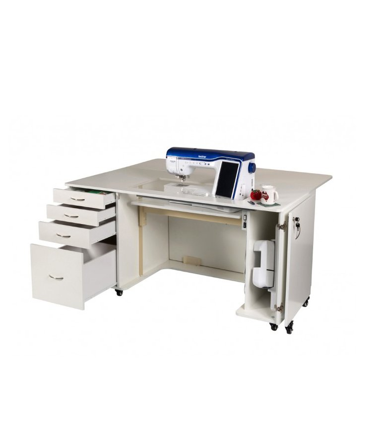 Horn Ultimate Quilters Table Cabinet Sewing Drawers Dream Machine Janome Brother Pfaff Bernina Husqvarna