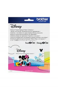 Mickey and Friends Scan N Cut Applique Collection Brother Disney Paper Craft Cut Sewing