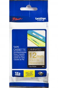 Brother Label Maker Tape Ribbon Cassette Refills Gold on Glitter White Premium TZE-PR234 12mm x 4m wide long discount cheap sale