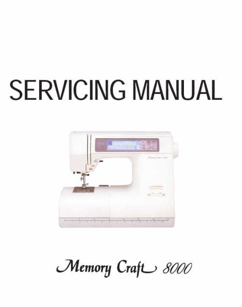 Janome MC8000 Service Manual Online PDF Download Downloadable Brochure Booklet Free