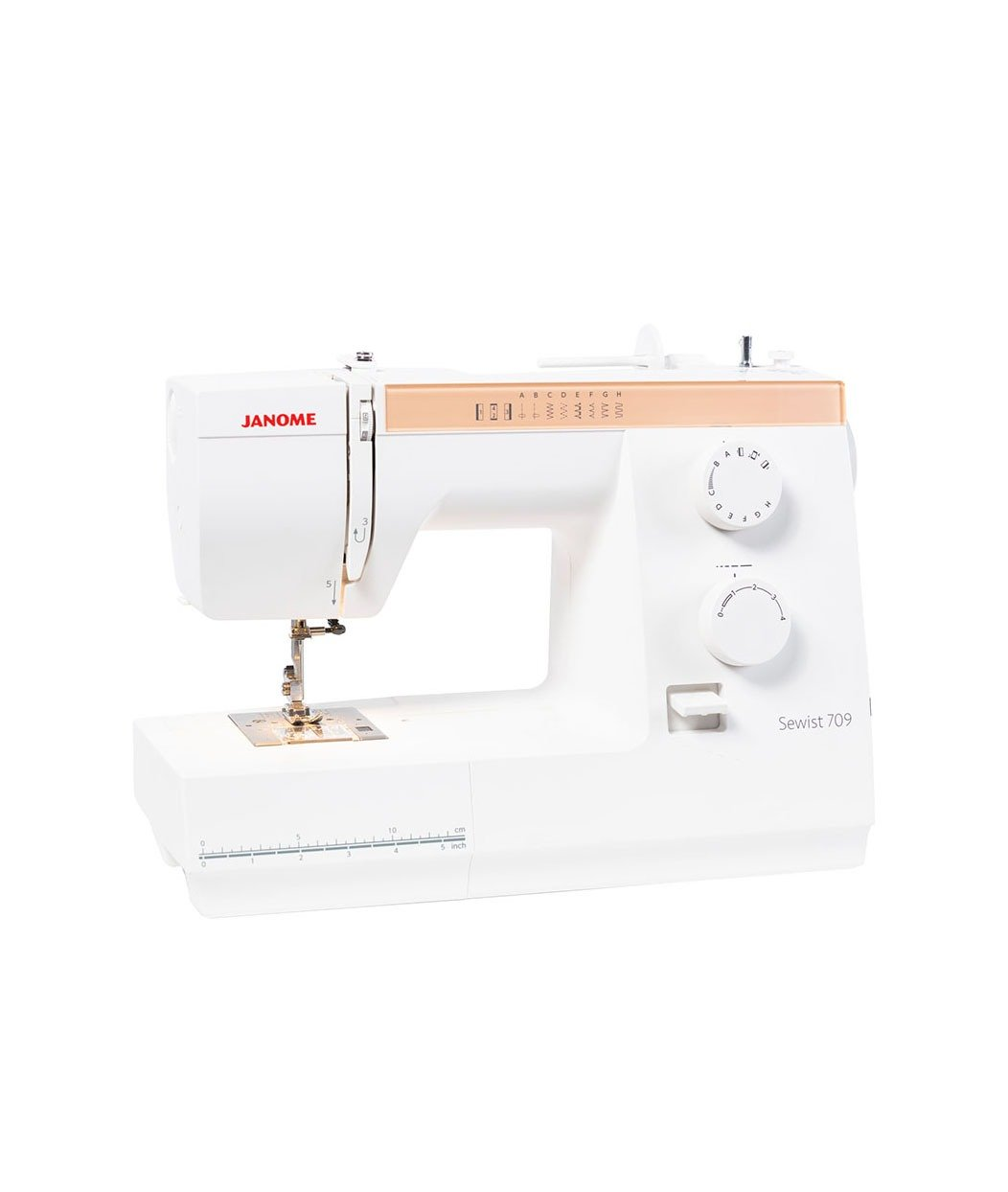 Janome Sewist 709 Mechanical Sewing Machine Stitches Buttonhole Free Arm Throat Threader Discount Spotlight Australia Western Australia Lessons Included