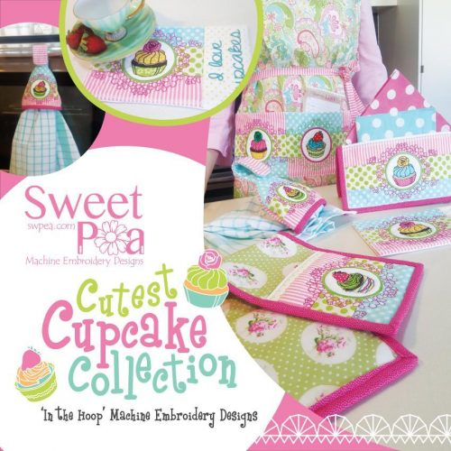 Sweet Pea Cutest Cupcake CD Embroidery Design Collection Australia Retailer Dealer Perth Western Australia Brother Janome Pfaff Husqvarna Bernina Elna