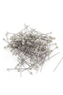 White Pearl Pins Head Dressmaking Quilting Tailor Sewing Alterations Seamstress Glass Bulk Buy Discount