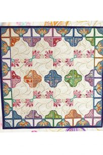 Sweet Pea Floral Fantasy Quilt in the hoop project embroidery Australian Retailer Blocks Brother PES In-the-hoop Instructions USB CD DVD Download