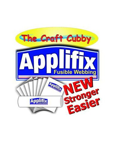 Applifix Iron on Fusible Webbing Stabiliser Stabilizer Backing Applique Quilting Sewing Craft Cubby Vliesofix Australia Spotlight Discount Price A4 Metre Roll