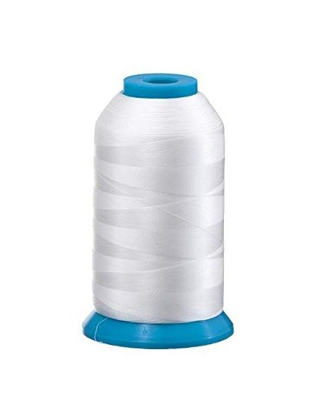 White Bobbin Thread Bobbin Fill 10000 metre meters cone spool yard 60 weight spun cotton embroidery discount wholesale bulk Echidna Tajima Australia prewound bobbins
