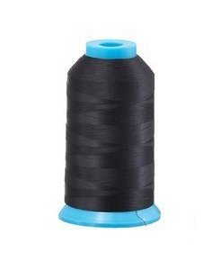 Black Bobbin Thread Bobbin Fill 10000 metre meters cone spool yard 60 weight spun cotton embroidery discount wholesale bulk Echidna Tajima Australia prewound bobbins