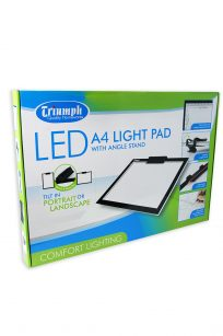 Triumph LED Light Pad A4 Illumination Template Tracing Quilting Sewing Embroidery Craft Cutting Blocks Stippling Free Motion Echo Echidna HobbySew Spotlight Brother Janome Juki Elna Bernina Babylock Baby Lock Husqvarna Pfaff