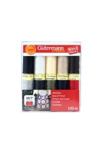 Gutermann Bonus Pack Polyester Thread Set Sew All Basics Australia Spotlight Wholesale Discount Retailer Echidna HobbySew Sewing Quilting Patchwork Cotton Kit Quilting Dressmaking Seamstress Rasant Online Postage Freight Cheap Deal