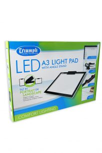 Triumph LED Light Pad A3 Illumination Template Tracing Quilting Sewing Embroidery Craft Cutting Blocks Stippling Free Motion Echo Echidna HobbySew Spotlight Brother Janome Juki Elna Bernina Babylock Baby Lock Husqvarna Pfaff