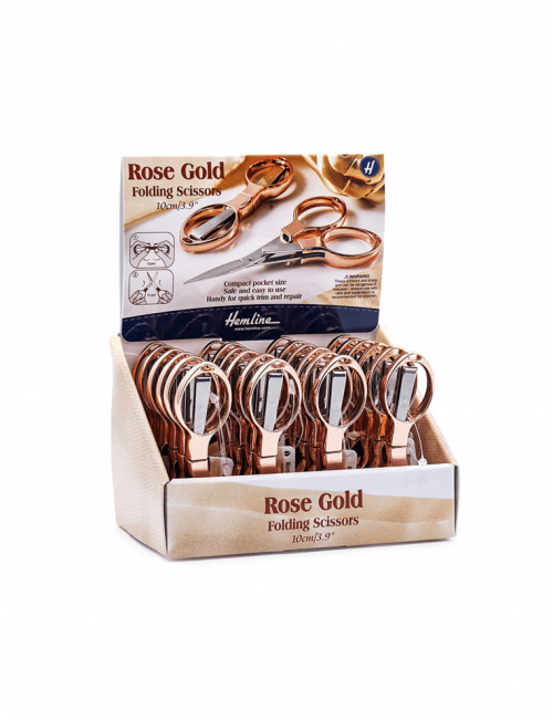 Rose Gold Folding Scissors Travel Set Embroidery Small Gift Echidna HobbySew Ebay Spotlight Discount Trimmers Shears Unpick Snips