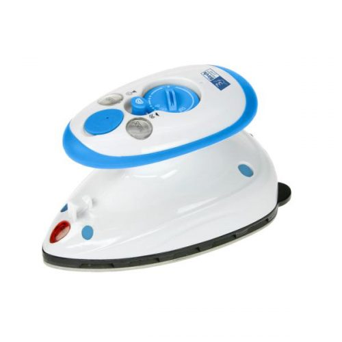 Travel Mini Steam Iron Blue Portable Carry Convenient Storage Small Handle Handheld