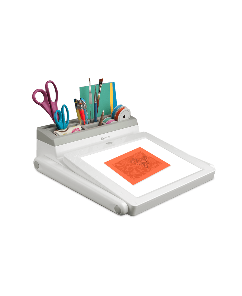 OttLite LED Light Box Light Pad Task Station Craft Station Crafting Quilting Sewing Artists Drawing Tracing Compartment Storage Accessories Daylight Illumination White Eyesight Australia Retailer Discount Dealer Stockist Stock Lamp Sewing Lamp Sewing Light Quilt Pattern Patchwork Tracing Rulers
