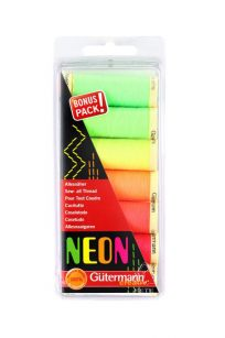 Gutermann NEON Bonus Pack Polyester Thread Set Sew All Neons Flourescent Australia Spotlight Wholesale Discount Retailer Echidna HobbySew Sewing Quilting Patchwork Cotton Kit Quilting Dressmaking Seamstress Rasant Online Postage Freight Cheap Deal