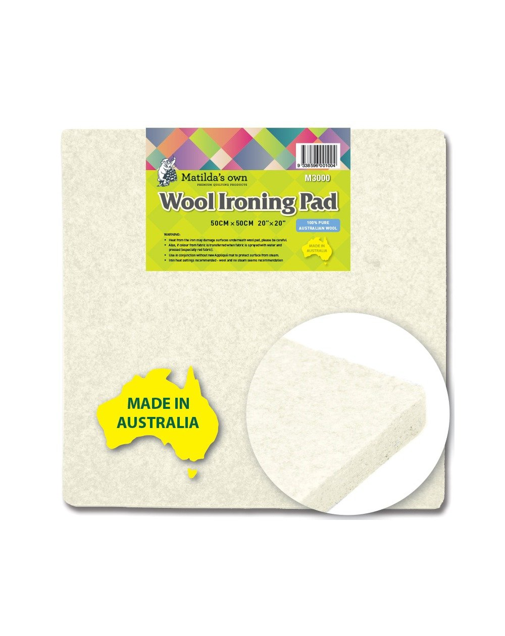 12 x 18 Mega Wool Pressing Mat Easy Press Wooly Felted Iron Board for Quilters Quilting Ironing Pad