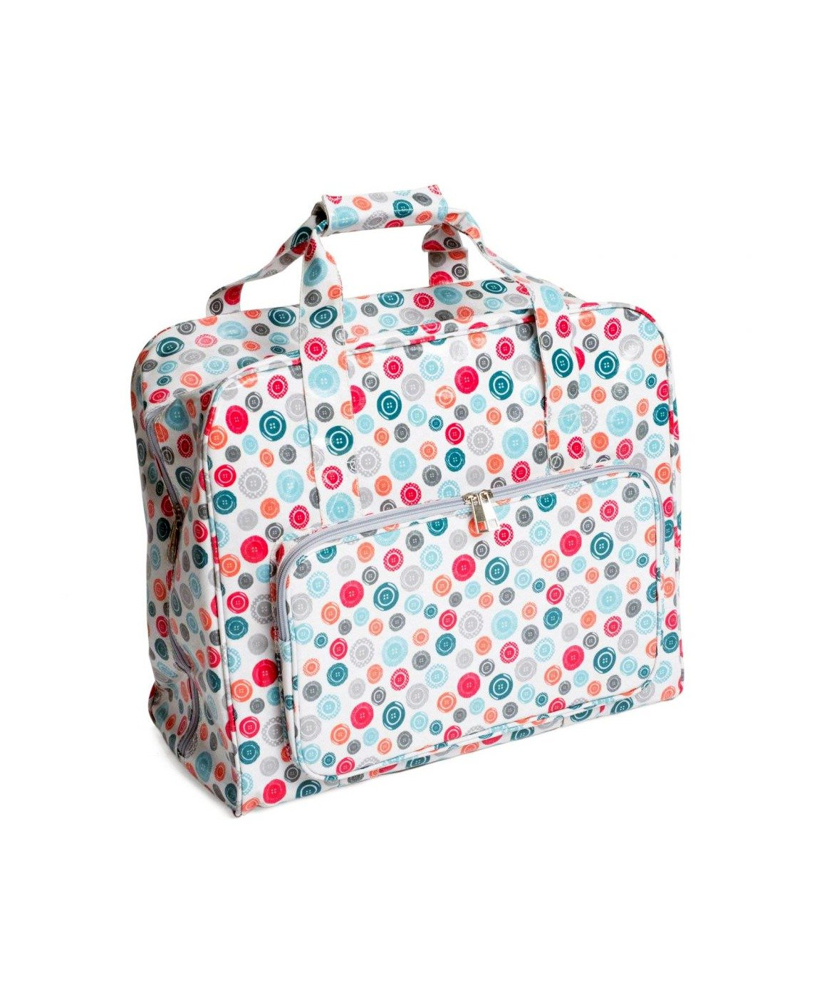 Sew Easy Sewing Machine Carry Bag Colourful Buttons Scattered Buttons Tote Trolley Bag Craft Pouch Handles