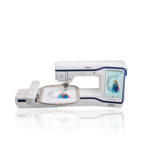 Brother Stellaire XE1 Sewing and Embroidery Dream Machine Luminaire Quattro Disney Camera My Design Centre New USA America Release Disney Australia News Information Features Specifications Images Pictures