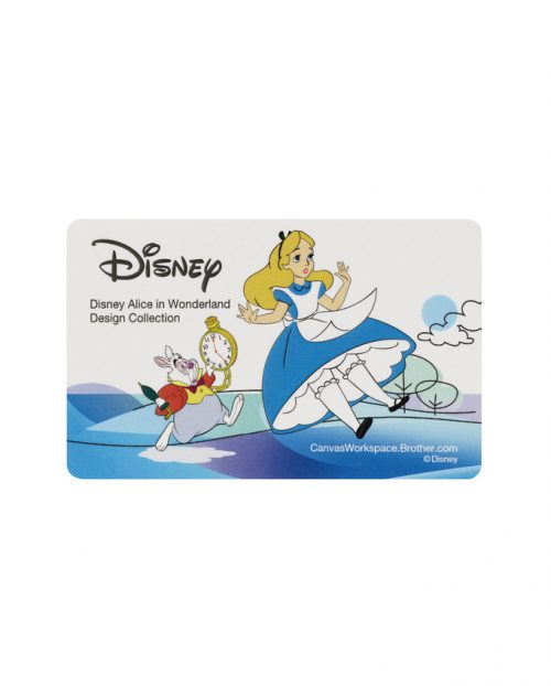 Brother Scan N Cut Disney Pattern Pack Collection Activation Card Scan N Cut Alice in Wonderland Designs SDX